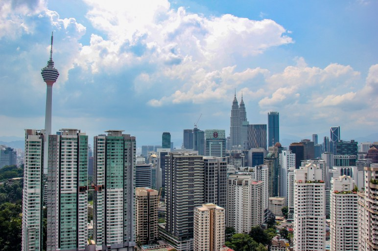 Kuala Lumpur City view the rooftop deck of The Robertson Residences in Kuala Lumpur, Malaysia