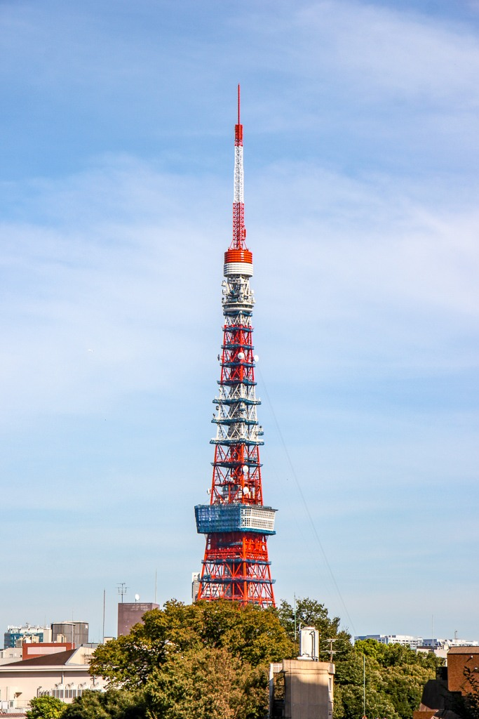 Red and White Tokyo Tower in Tokyo, Japan