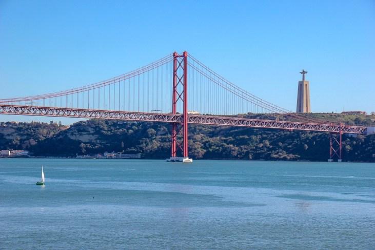 Tagus River, Cristo Rei, and April 25th Bridge, perfect Lisbon, Portugal!