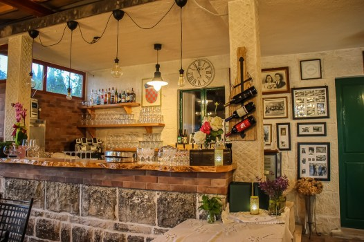 Bar at Pinjac Pub in Zrnovo, Korcula Island, Croatia