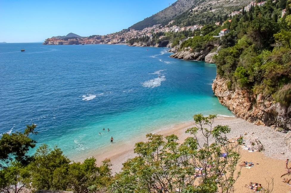 Sveti Jakov Beach in Dubrovnik, Croatia