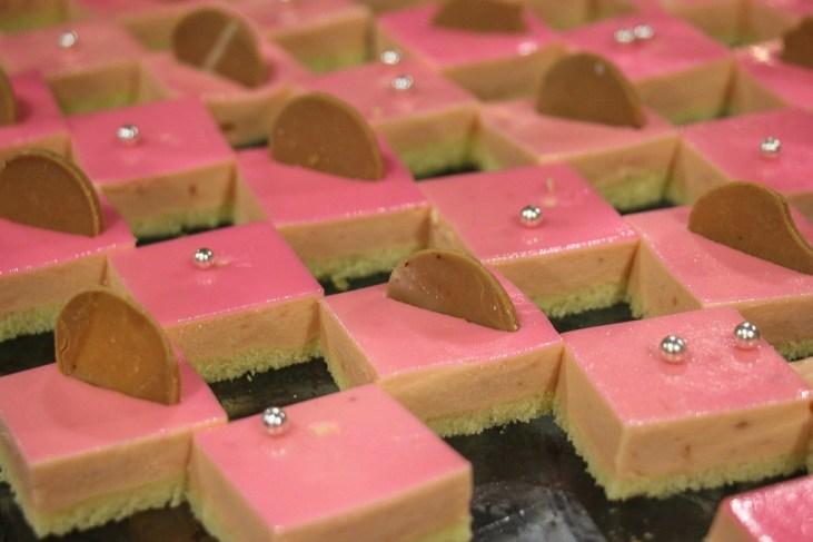 Pink iced treats at Beer Plaza Buffet at Ba Na Hills in Da Nang, Vietnam