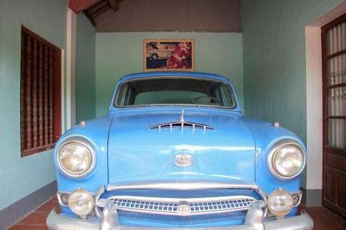 Thich Quang Duc's Blue Car, Hue, Vietnam