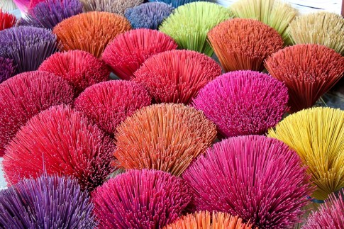 Colorful Incense, Imperial City, Hue, Vietnam