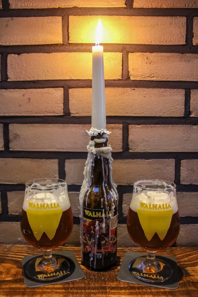 Candle and craft beer, Walhalla Craft Beer Bar Amsterdam