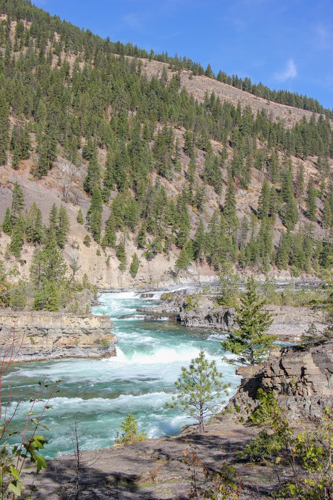 A view of Kootenai Falls, Montana Road Trip