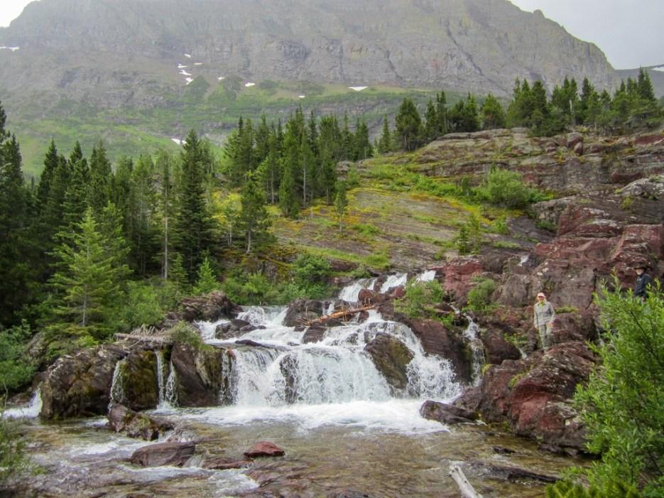 Red Rock Falls Hiking Trail, Glacier NP, Montana