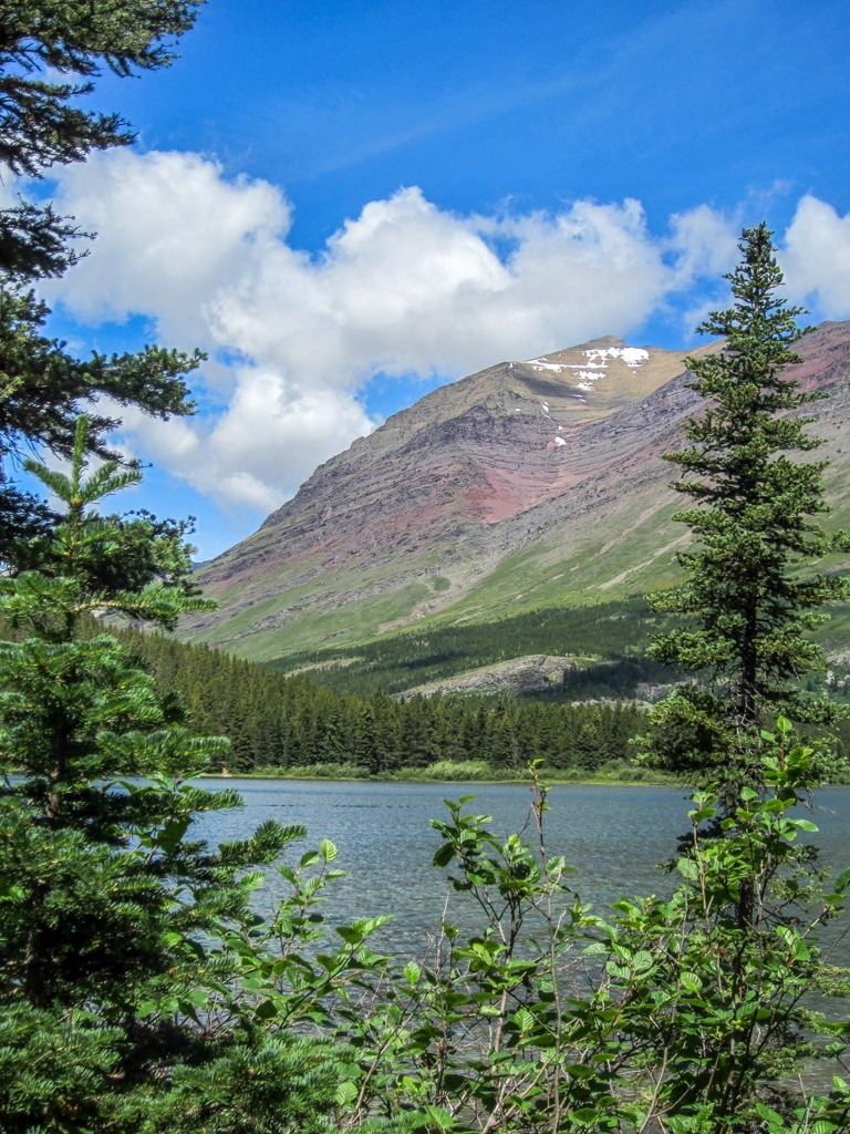 Hiking near Swiftcurrent Lake Nature Trail, Glacier National Park, Montana