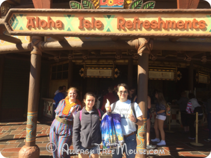 Dole Whips served by friendly Cast Members