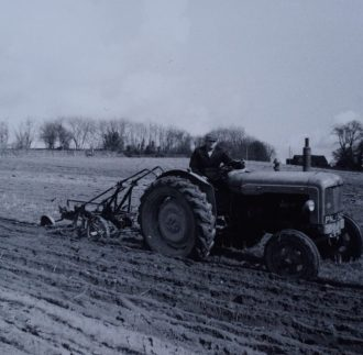 Grandfather ploughing on Fordson Diesel Major