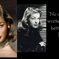 Lauren Bacall Wearing a Gorgeous Pearl Choker Necklace