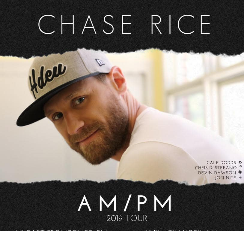 Chase Rice Announces Fall Am Pm Tour From The Mailbag