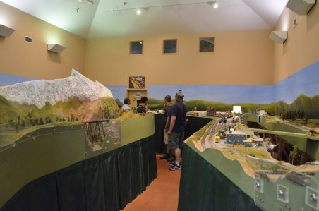Model railroad display in a room off of the depot's main lobby.