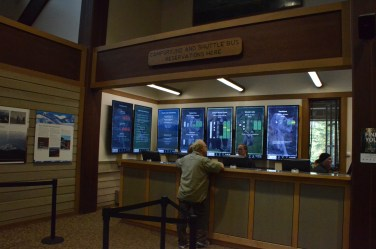 The reservation counter had very informative digital signage and pleasant, helpful staff.