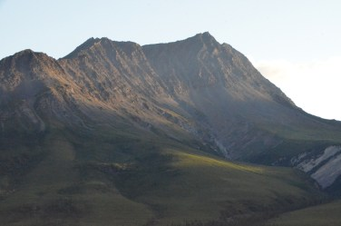 Shadow on the mountain side