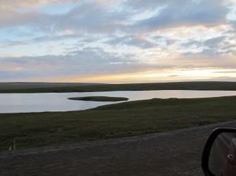 The tundra, and Galbraith Lake.