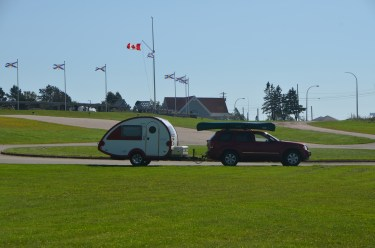 Trailer and visitor center.