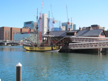 Boston Tea Party Ships and Museum from nearby. This is the ship I boarded during my tour.