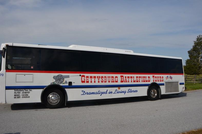 Battlefield tour bus.