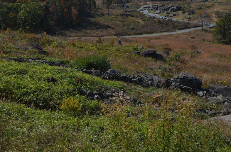 These rock walls were as far as the Southern soldiers made it before retreating.