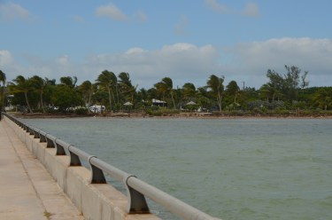 Looking back towards the beach from the pier.