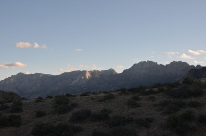 Organ Mountains, south of San Augustin Pass. Hills between Las Cruces and Alamagordo/White Sands valley (North of the pass known as San Andreas Mountains)