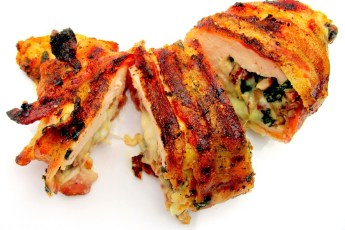 Stuffed & BACON-Wrapped Chicken Breast