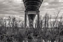 Veteran's Memorial Bridge from Below; Gramercy, Louisiana, 2015