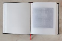 Highway of Temptation and Redemption: vellum page with text block
