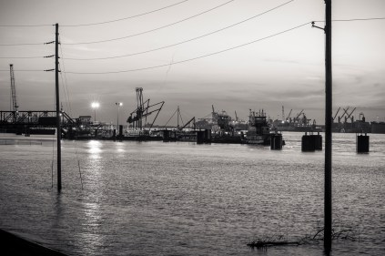 View of Uptown Container Ports from Gretna, Louisiana, 2015