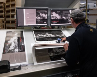Enigmatic Stream on press at Friesens