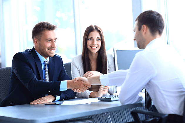 businessman shaking hands to seal a deal with his partner 72 ppi - Financial Services