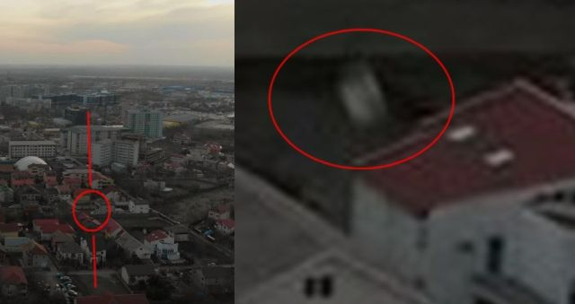 4K footage of mysterious flying object over Bucharest, Romania