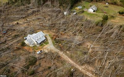Perfectly Intact House Surrounded By Complete Devastation After Deadly Alabama Tornado