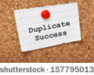 stock-photo-duplicate-success-typed-onto-a-scrap-of-lined-paper-and-pinned-to-a-cork-notice-board-in-business-157795013