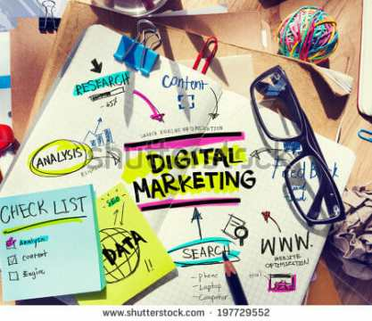 stock-photo-office-desk-with-tools-and-notes-about-digital-marketing-197729552