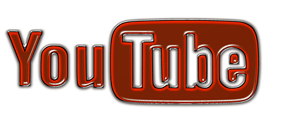 A blood-coloured YouTube Icon