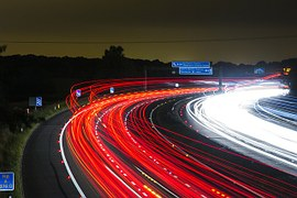 Laser-lit highway to show web traffic.