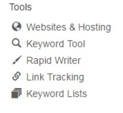 Image listing tools available at Wealthy Affiliate such as website & hosting, keyword tool, etc