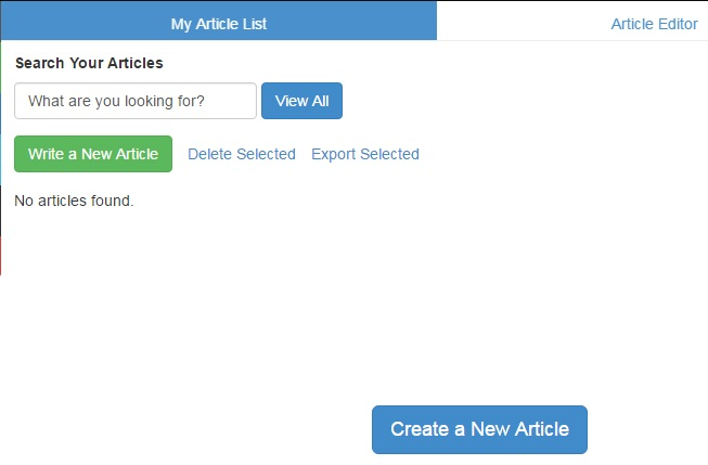 My article List: zone for writiing articles