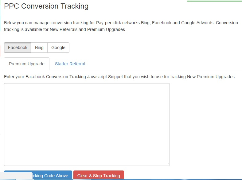 PPC conversion tracking
