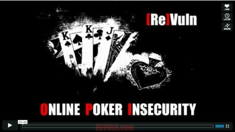 On Line Poker Insecurity