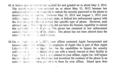 Apple has capability to decrypt seized devices