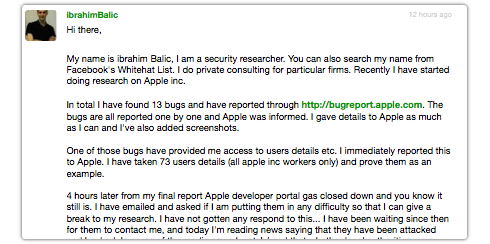 Apple iOS Developer Center data breach Balic.JPG