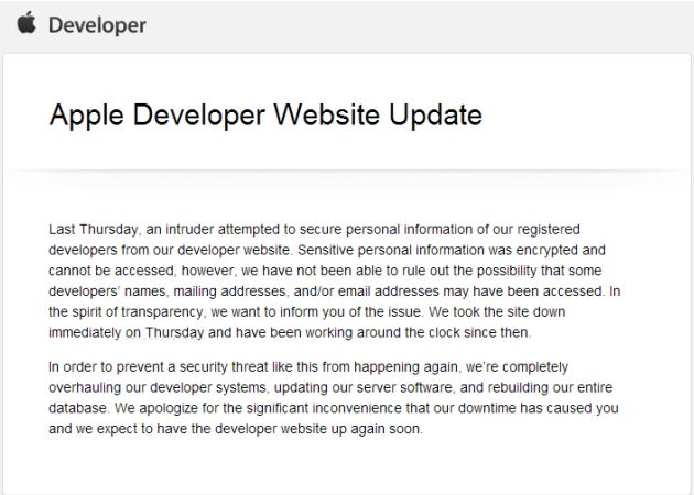 Who has hacked the Apple iOS Developer Center?Security Affairs