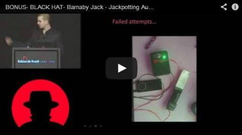 Barnaby Jack Jackpotting video