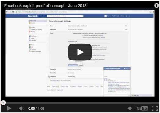 Facebook vulnerability Video POC