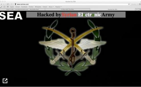 Syrian Electronic Army NYT defeaced