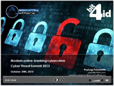 CYBER Threat Summit 2013 Modern Online-banking cybercrime