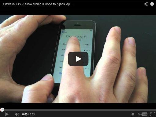 New iOS 7 vulnerability